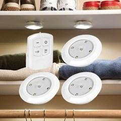 다용도 led 터치등 리모컨세트 원형 무선 LED 조명