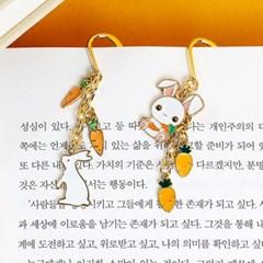 [핸드메이드] 당근과 토끼 책갈피_(1067463)