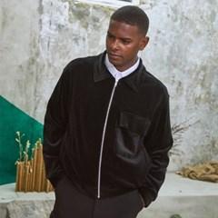 M-Cozy Velvet Short Jacket Black