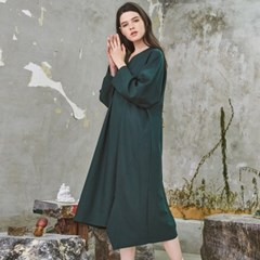 Relax Fit Classy Wool One-Piece Green