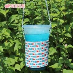 [해피코튼] 방수 드링크백 컵홀더/ 럼블피쉬