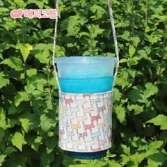 [해피코튼] 방수 드링크백 컵홀더/ 컬러퍼피