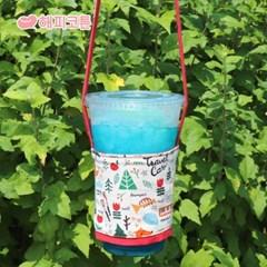 [해피코튼] 드링크백 컵홀더/ 해피 캠핑