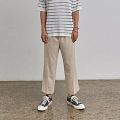 COMPACT WIDE PANTS_LIGHT BEIGE