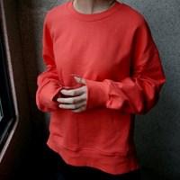 basic loose sweatshirts (scarlet)_(1327187)