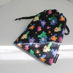 Windy flower string pouch m
