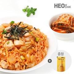 허닭 닭가슴살 김치곤약볶음밥 + 소시지 후랑크 옥수수콘