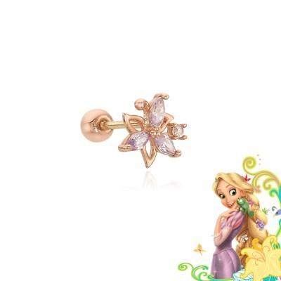 [주문제작] 라푼젤 마법의 금빛 꽃 10K 골드 피어싱 CLE19701T