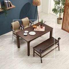 커키 고무나무 원목 식탁 테이블 4인용 1400_(1265107)