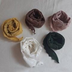레이스 삼각 아동 스카프