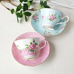 핑크로즈 커피잔(2color)_(1691343)