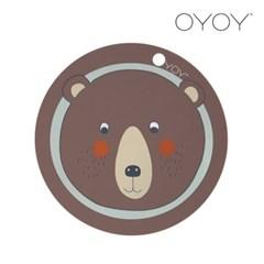 오이오이 원형 플레이스매트_곰