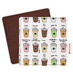 [해피코튼] 티코스터 코스터 컵받침/ 카페 브라운