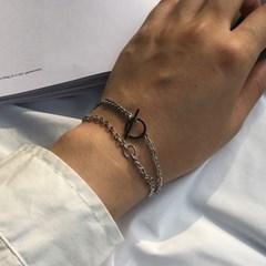 남자 팔찌 써지컬 스틸 체인 레이어드 DW bracelet_(997977)