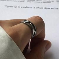 남자 반지 써지컬 스틸 레이어드 패션 체인 Net ring_(997832)