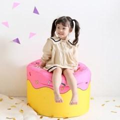 핑크도너츠 빈백 유아소파_(2091395)