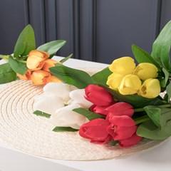 파스텔튤립부쉬 35cm 조화 성묘 꽃 인테리어 FAGAFT_(1436905)