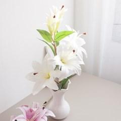 리얼백합가지 92cm FAIAFT 조화 꽃 인테리어소품_(1436227)