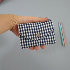 네이비체크 카드지갑