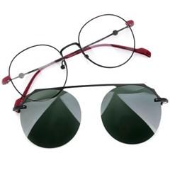 트리시클로 명품 편광 클립온 안경테 선글라스 TDC3047-01(51)
