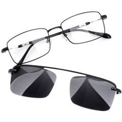 트리시클로 명품 편광 클립온 안경테 선글라스 TDC3043-01(53)