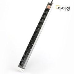 아이정 현대 알루미늄 멀티탭 서버탭 12구 1.5M_(2538030)