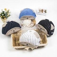 돌핀웨일 베이스볼라인 귀달이 아기모자(6~24개월)