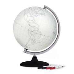 테크노디다티카 지구본-블랭크30cm-silver
