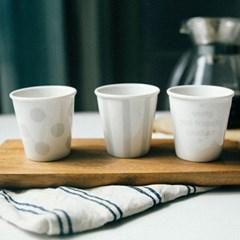 에코도자기컵3p세트(종이컵사이즈)(디자인선택) / 도자기종이컵