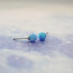 나의 블루 우주 실버 귀걸이 CLER17624PWL