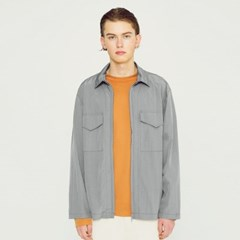 라이트 메탈릭 셔츠 자켓 그레이_(1266724)