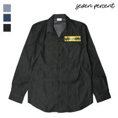 [세븐퍼센트] WBH패치 인디고 오버핏 셔츠 577_(859838)