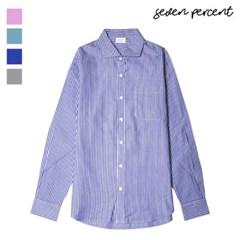 [세븐퍼센트] 싱글포켓 스트라이프 셔츠 564_(859844)
