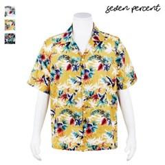 [세븐퍼센트] (KC)삼색 꽃 하와이안 반팔 남방 셔츠_(859829)