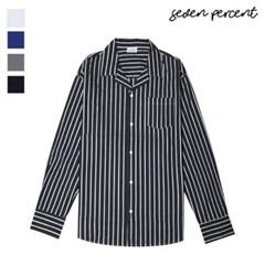 [세븐퍼센트] 싱글포켓 볼드 스트라이프 셔츠 566_(859842)