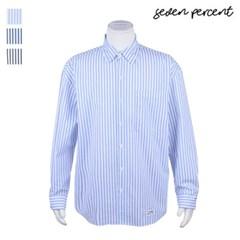 [세븐퍼센트] (J) 남여공용 세미 포켓 스트라이프 셔츠_(859831)