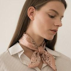 dot paisley silk scarf-pink