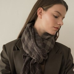 chester scarf-brown