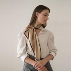 ely silk scarf-beige