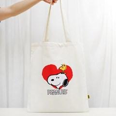 [Peanuts Bag&Acc]스누피 화이트 에코백(Snoopy w Echo_(1751048)