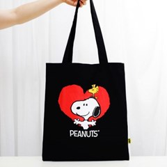 [Peanuts Bag&Acc]스누피 블랙 에코백(Snoopy b Echo ba_(1751047)