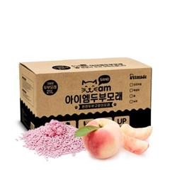 아이엠두부모래 복숭아 8.5kg(21L) 고양이모래/배변