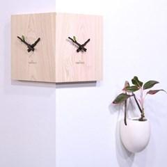 편백나무 통원목 코너시계_(1860887)