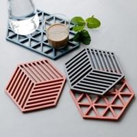 컵받침 냄비받침 실리콘 멀티디자인받침 3개 set