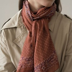 dot paisley modal scarf-orange
