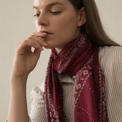 dot paisley modal scarf-wine