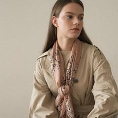 dot paisley modal scarf-beige