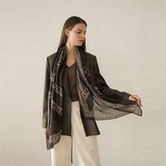 dot paisley modal scarf-black