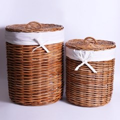 라탄 홍등 원통 세탁 바구니(2size)_(1704452)