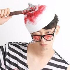 할로윈 붕대 모자 (망치)